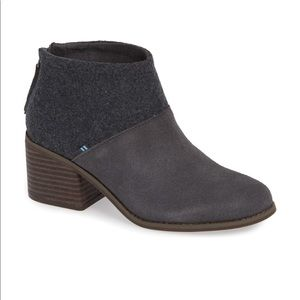 NWT Toms Lacy Bootie Grey Size 7.5
